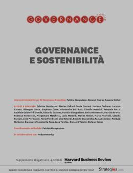 Governance e sostenibilità