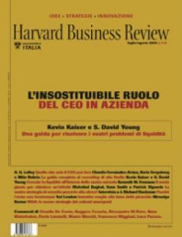 L'insostituibile ruolo del CEO in azienda (Luglio/Agosto 2009)